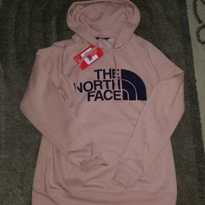 Brand new The North Face Hoodie! Blush w/navy logo